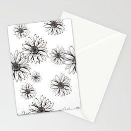 Margaritas dibujo byn  Stationery Cards