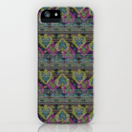 Persian Carpet  Black Distressed 2 iPhone Case