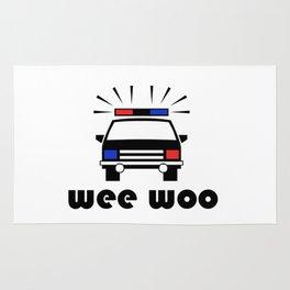 Police Car Wee Woo Rug