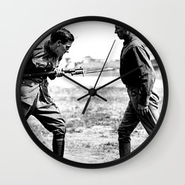 Bayonet Fighting Instruction Wall Clock