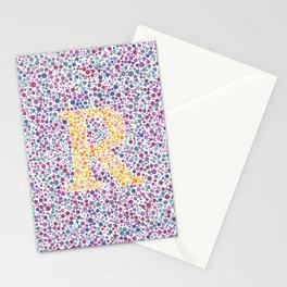 """R"" Eye Test Full Stationery Cards"