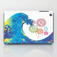 hokusai iPad Cases featuring Hokusai Rainbow & Fireworks  by FACTORIE
