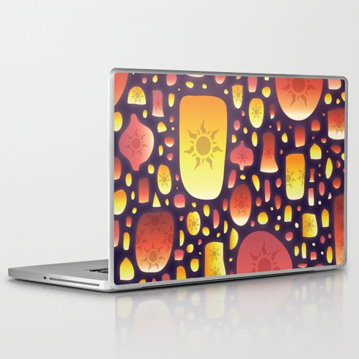 tangled lanterns pattern laptop ipad skin by cinacatteau society6