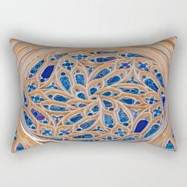 rose window Rectangular Pillow