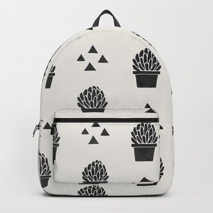 Stamped Potted Succulents Backpack