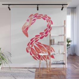 Miami Flamingo – Pink Ombré Wall Mural