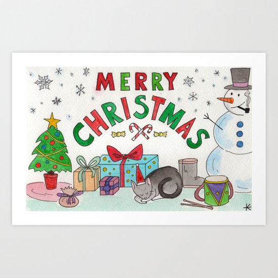 Christmas Card! Art Print