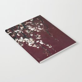 blossoms on ruby red Notebook