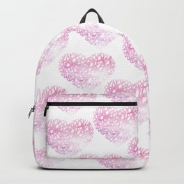 Blush pink watercolor abstract watercolor hearts pattern Backpack