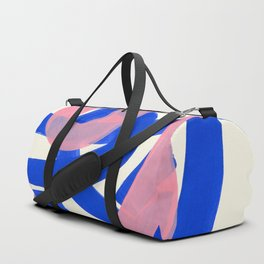 Tribal Pink Blue Fun Colorful Mid Century Modern Abstract Painting Shapes Pattern Duffle Bag