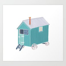 Little Shepherd Hut Art Print
