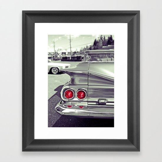Taillights Americana Framed Art Print