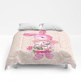 Girls Bunny Floral Comforters
