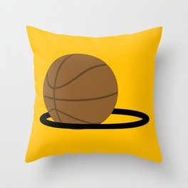 Basketball In The Hoop Throw Pillow