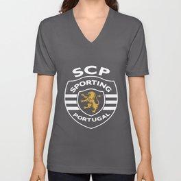 Sporting Clube Portugal Football Soccer Uefa Europe Lisboa Football T-Shirts Unisex V-Neck