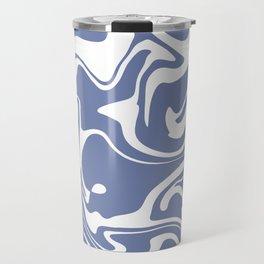 Soft Violet Liquid Marble Effect Design Travel Mug