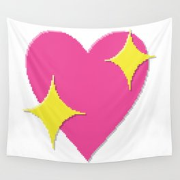 Sparkling Heart Wall Tapestry