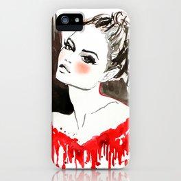 Blush Fashion Illustration iPhone Case