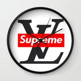 LV x Supreme Wall Clock