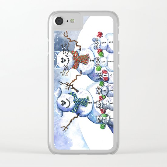 It's Snowing Cats and Dogs (and Mice too) Clear iPhone Case