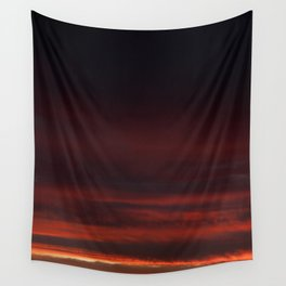 Black sunset Wall Tapestry