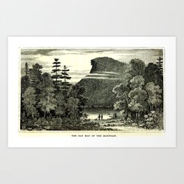 The Old Man of the Mountain Art Print