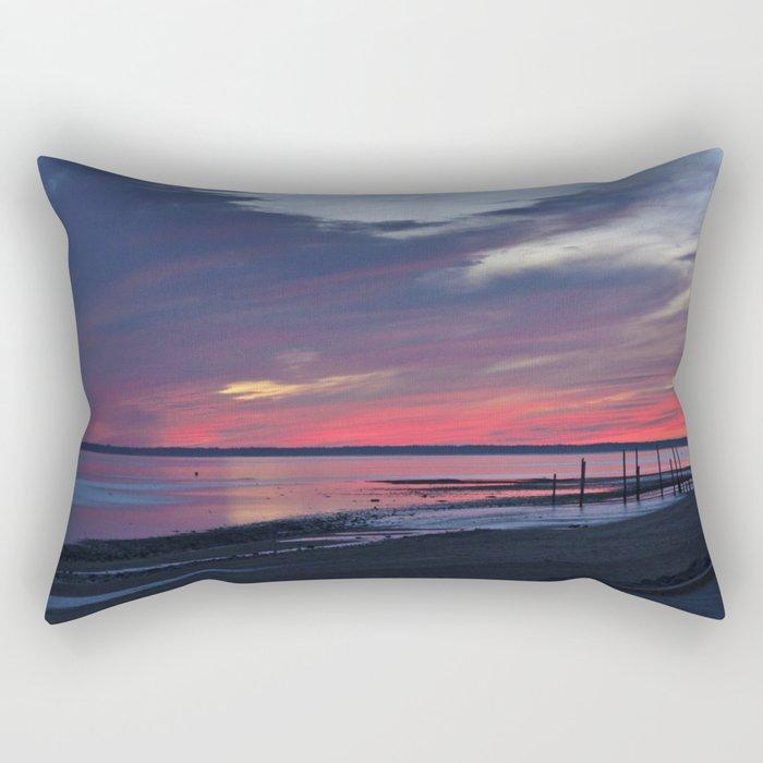 Magic Summer Sunset on the West Coast of DENMARK Rectangular Pillow