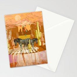 DESERT ZEBRA Stationery Cards