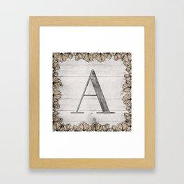 Neutral Monogram - A Framed Art Print