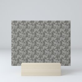 Abstract Geometrical Triangle Patterns 2 Benjamin Moore 2019 Trending Color Kendall Charcoal Gray HC Mini Art Print