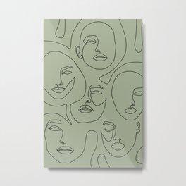 Matcha Faces Metal Print