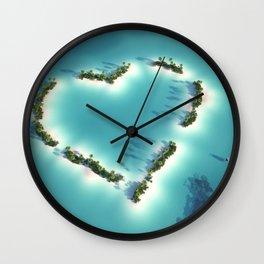 Heart Island Wall Clock