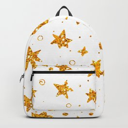Background with golden glitter stars Backpack