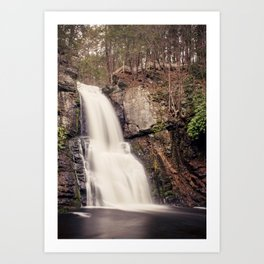 Bushkill Falls Waterfall, Pocono Mountains - Pennsylvania Art Print
