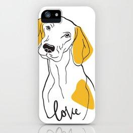 Dog Modern Line Art iPhone Case