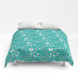 PRETTY LITTLE CHRISTMAS THINGS - Turquoise Comforters