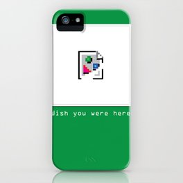 Talk Nerdy to me - Wish you were here iPhone Case