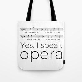 I speak opera (bass) Tote Bag