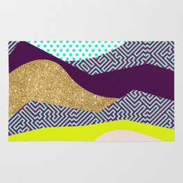 Neon Party Dunes Pattern Rug