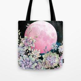 succulent full moon 3 Tote Bag