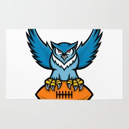 Great Horned Owl American Football Mascot Rug
