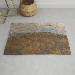 Eucalyptus Tree Bark and Wood Texture 22 Rug