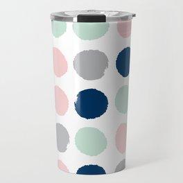 Minimal painted dots gender neutral home decor minimalist nursery baby polka dots Travel Mug