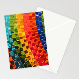Closeup of paper umbrella texture background Stationery Cards