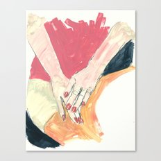 Hands in Oil Canvas Print