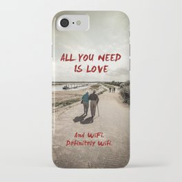 all you need is wifi iPhone Case