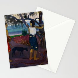 Under the Pandanus II by Paul Gauguin Stationery Cards