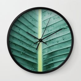 After the Rain In Paradise Wall Clock