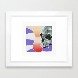 Skull Cake Framed Art Print