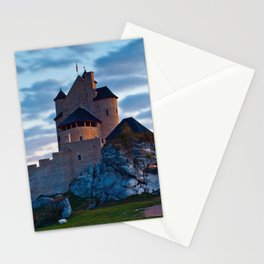 Medieval castle in Bobolice, Poland Stationery Cards